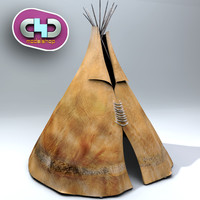teepee uv maps 3d c4d