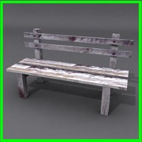 bench ready modeled 3d model