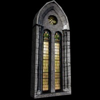 medieval castle stained-glass window
