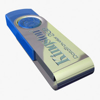 flash drive 3d obj