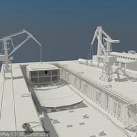 3d model dock dry