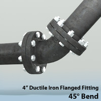 4in bend piping 3d max