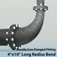 Pipes 4inx10in Long Radius Reducing Bend