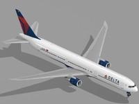 b 767-400 er airliner 3d lwo