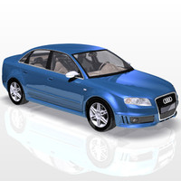 audi rs4 car sport 3d model