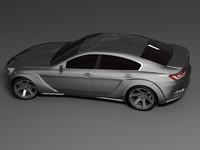bmw cs concept car 3d max