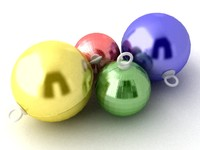 3dsmax christmas baubles