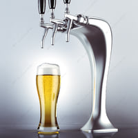 3d ma draft beer tower glass