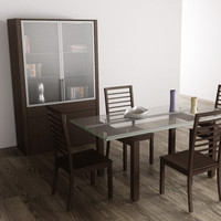 dining room interior furniture 3d model