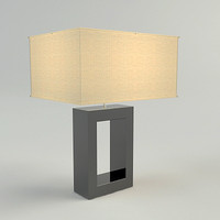 3d table lamp materials model