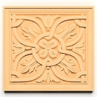 3d ornamental element wall model