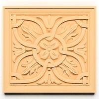 3d ornamental element wall model