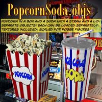 3d popcornsoda popcorn soda