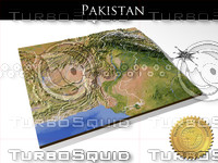 Pakistan, High resolution 3D relief maps