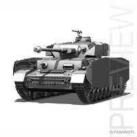 - iv panzer tank 3d model