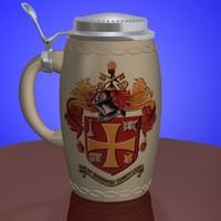 3d beer stein fr model