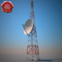 3d 3ds telecommunication tower v6