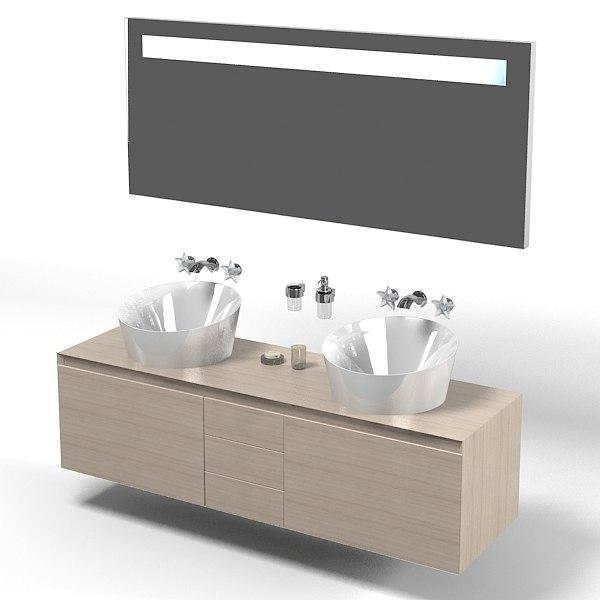 3d model antonio lupi bathroom for Wash basin mirror price