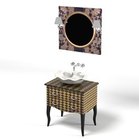 bathroom furniture retro 3d max