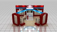 fair stand exhibition 3d max