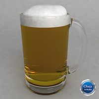 3d 3ds beer glass
