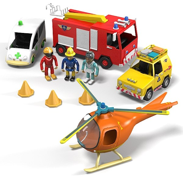 emergency rescue playset kit toy kid children fire fireman car vehicle helicopter ambulance jeep.jpg
