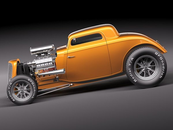 max 1933 1934 34 hot rod - Ford 1934 3window coupe HOT ROD... by squir
