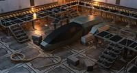 maya scifi hangar