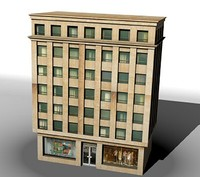 highrise building office 3d model