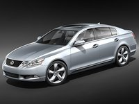 3d model lexus gs350 gs 350