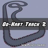 go-kart track 2 3d model