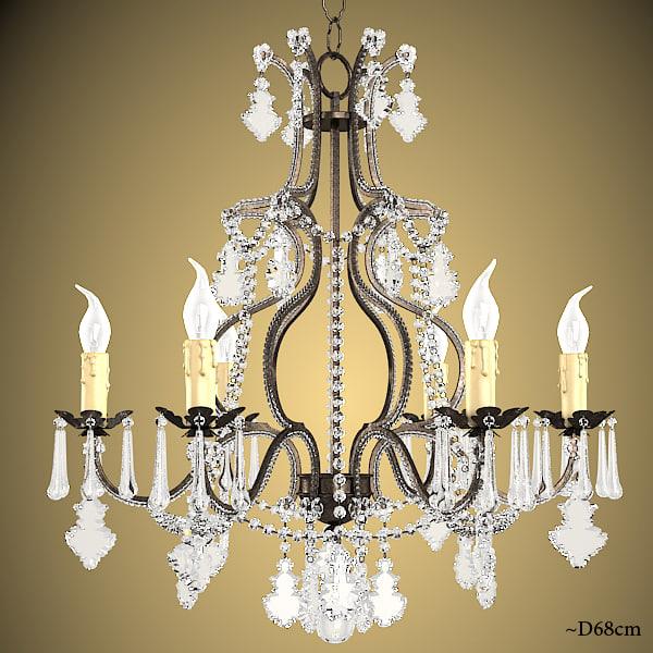 renzo del ventisette classic swarowski chandelier crystal murano glass luxury