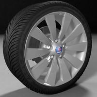 3d wheel saab model