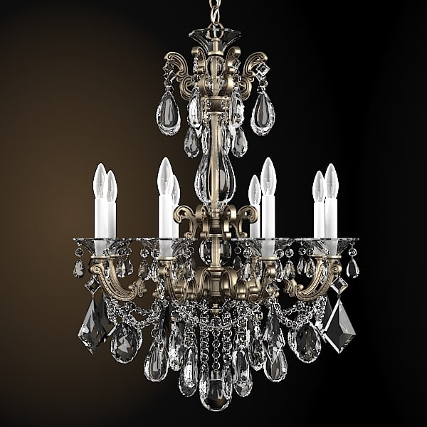 schonbek 5007 luxury crystal chandelier classic  murano glass brass iron swarowski  ceiling light.jpg