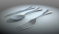dinning classic silverware obj