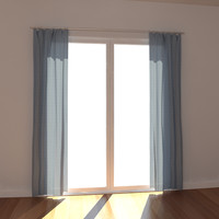 3d model windows curtain