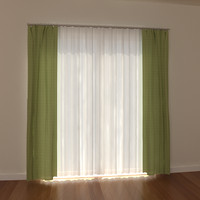 windows curtain 3d 3ds