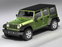 3d model wrangler unlimited jeep