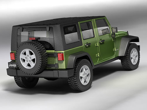jeep wrangler unlimited 3d model - Jeep Wrangler Unlimited... by squir