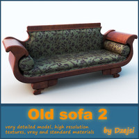 3d old sofa interior