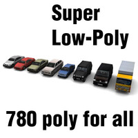 Super Low-Poly cars pack