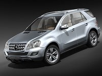 3d mercedes ml suv 2009 model