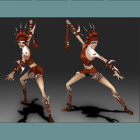 games character 3d model