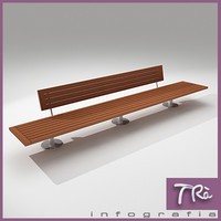 bench urban 3d max