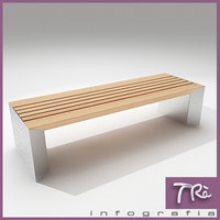 3d bench urban