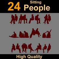Human Silhouettes sit