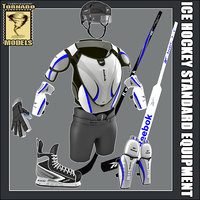 ice hockey equipment standard 3d 3ds