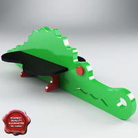 playground bench crocodile 3d max