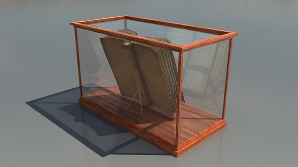 Old Book Display Case ~ Antique book display case d max
