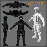 3d modeled swat -